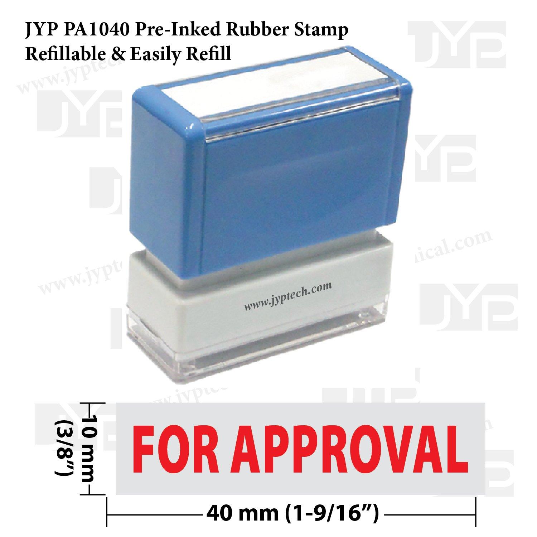 新しいJYP pa1040 pre-inkedゴム製スタンプW。For承認   B00QCUWYU6