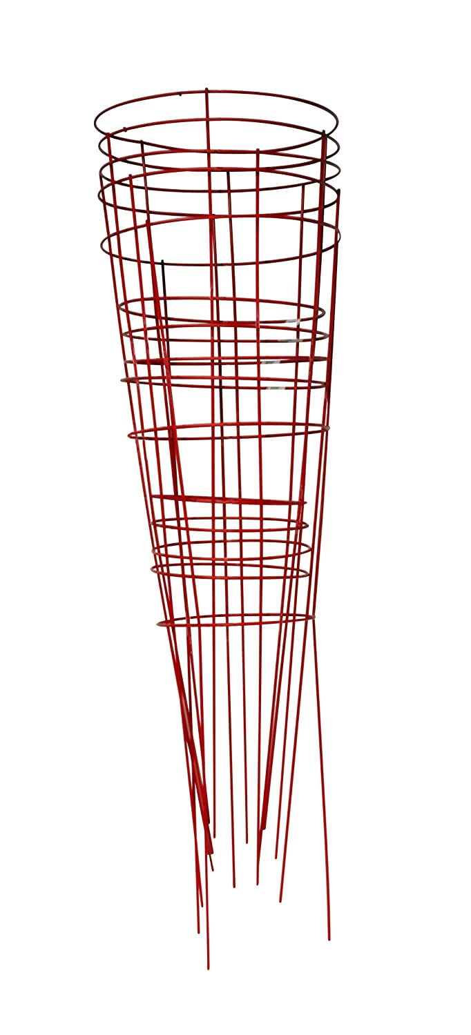Glamos 745095 14-Inch x 42-Inch Heavy Duty Metal Tomato Cage – 5 Pack Red