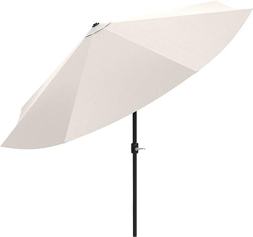 Pure-Garden-Patio-Umbrella,-Shade-with-Easy-Crank