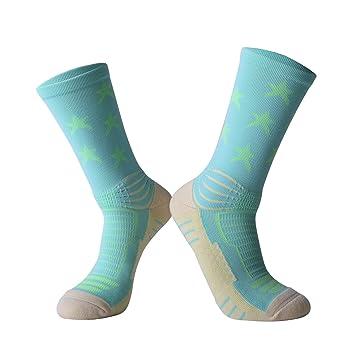 Liuxc Calcetines Calcetines Deportivos Calcetines de Élite Calcetines de Baloncesto Tubo Medio Calcetines de Baloncesto Deportes