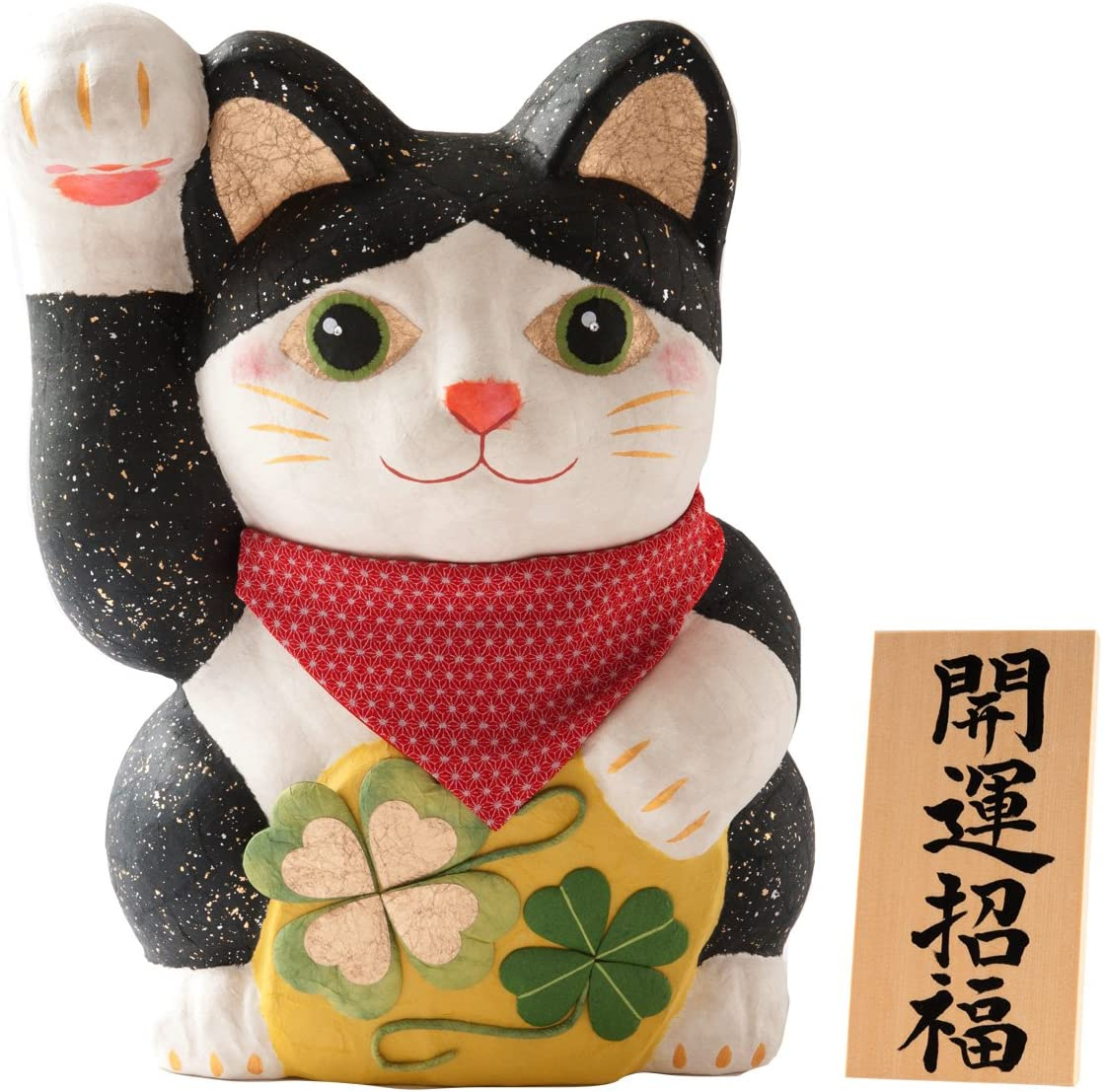 Neko Lucky Maneki Charm Cat Japanese Washi Paper Accent Figure Doll Home Decor