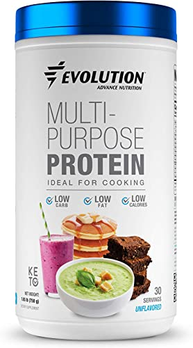 Evolution Advance Nutrition Unflavored Keto Multi-Purpose Protein Powder, Ideal for Cooking Low Carb, Fat and Calories 1.65 Pound 750Grams 30 Servings