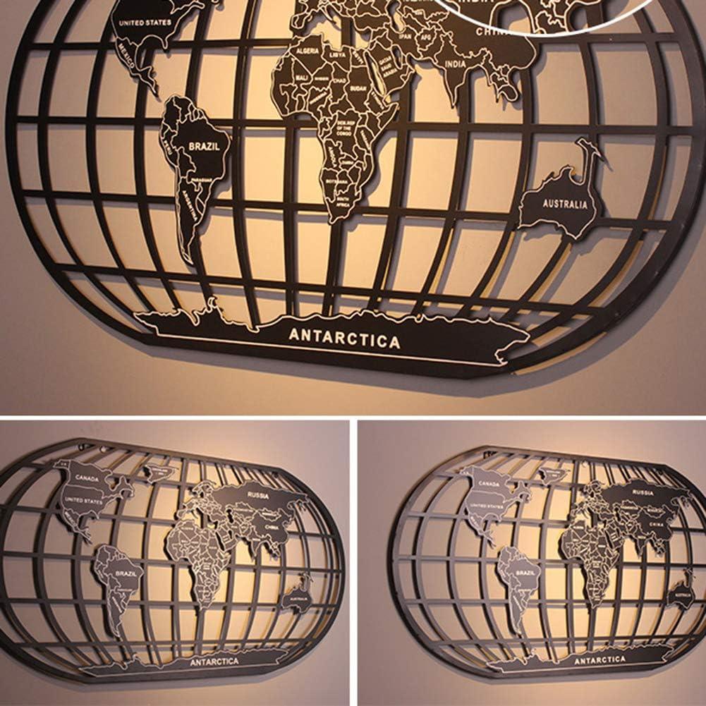 Mapa del Mundo para Pared Adornos para Salon Modernos Decoracion del Dormitorio Negro, L: 120x66 cm LHKAVE Mapa Mundi de Pared para Decoracion hogar
