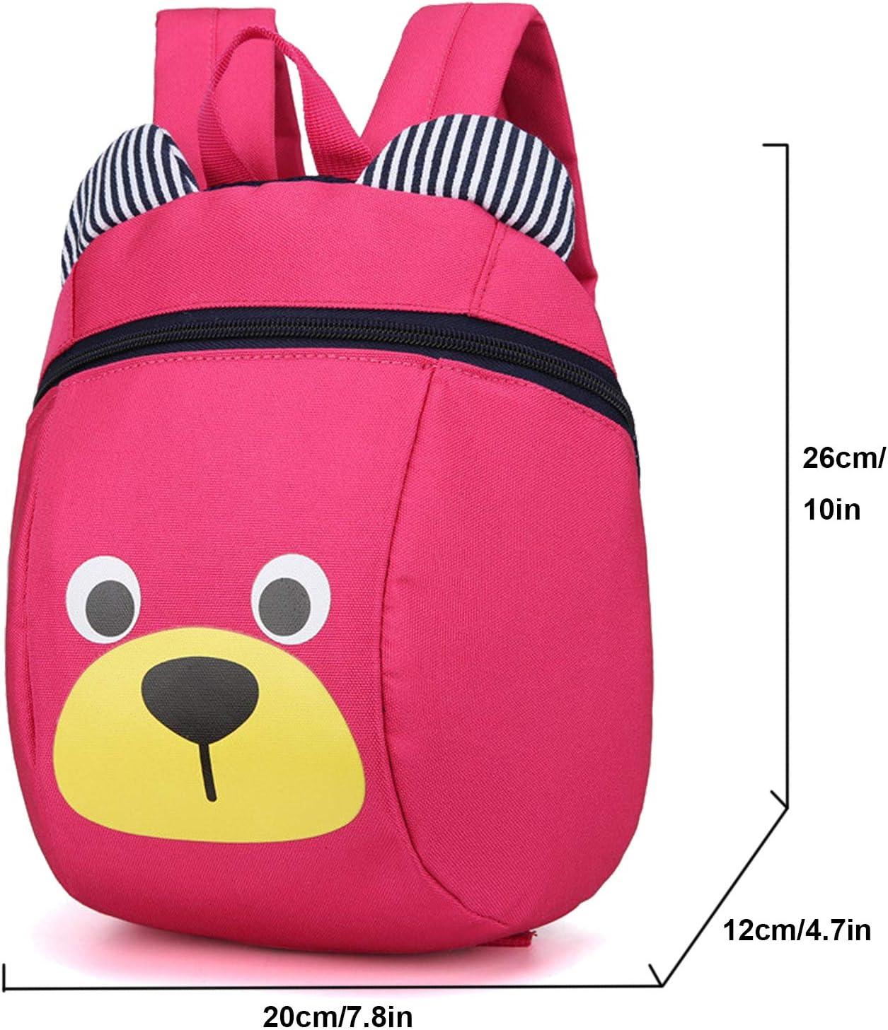 Kids Toddler Backpack Leash Boys Girls Lunchbox Preschool Bag Red