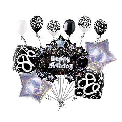 Amazon 11 Pc 80th Happy Birthday Balloon Decoration Party