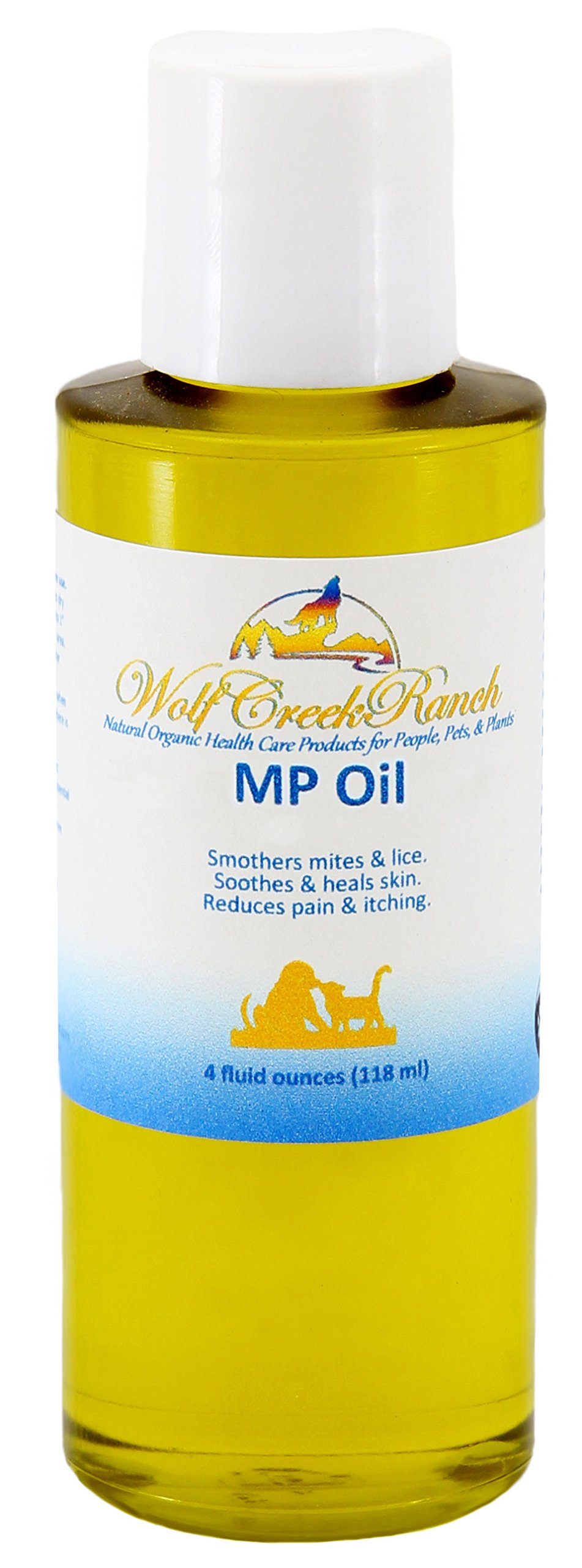 MP Oil – Natural Effective Mange, Mite, Itch Relief, Hot Spots, Itchy Skin, AllerHgies, Dry Nose, Cracked Paws, Promotes Hair Growth, Skin ealing Treatment for People, Pets, & Animals (4 oz.)