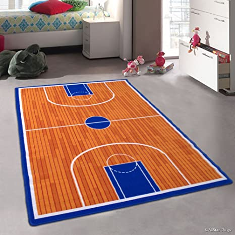 Amazon Com Allstar Kids Baby Room Area Rug Basketball Court For