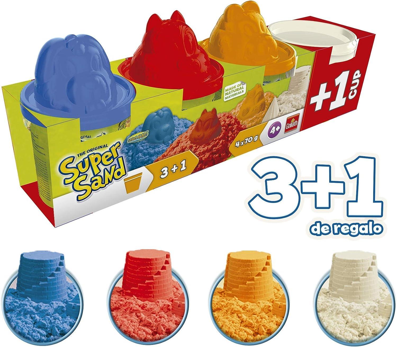 Goliath- Super Sand Botes 3+1 - Arena mágica, colores (83790.012) , color/modelo surtido