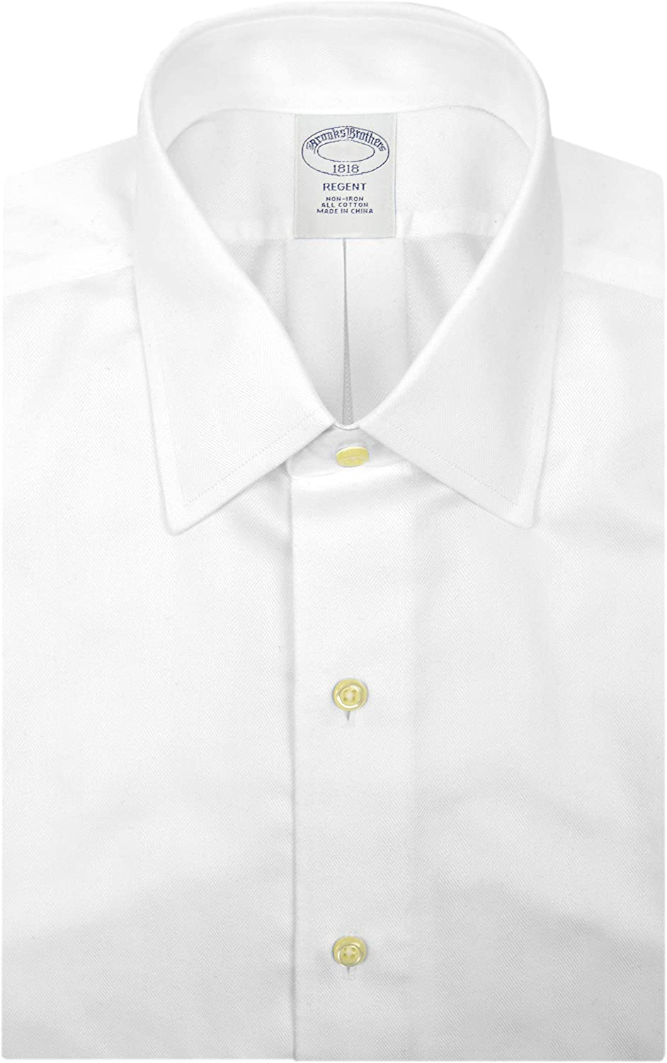 Men/'s Brooks Brothers Regent Dress Shirt White Cotton
