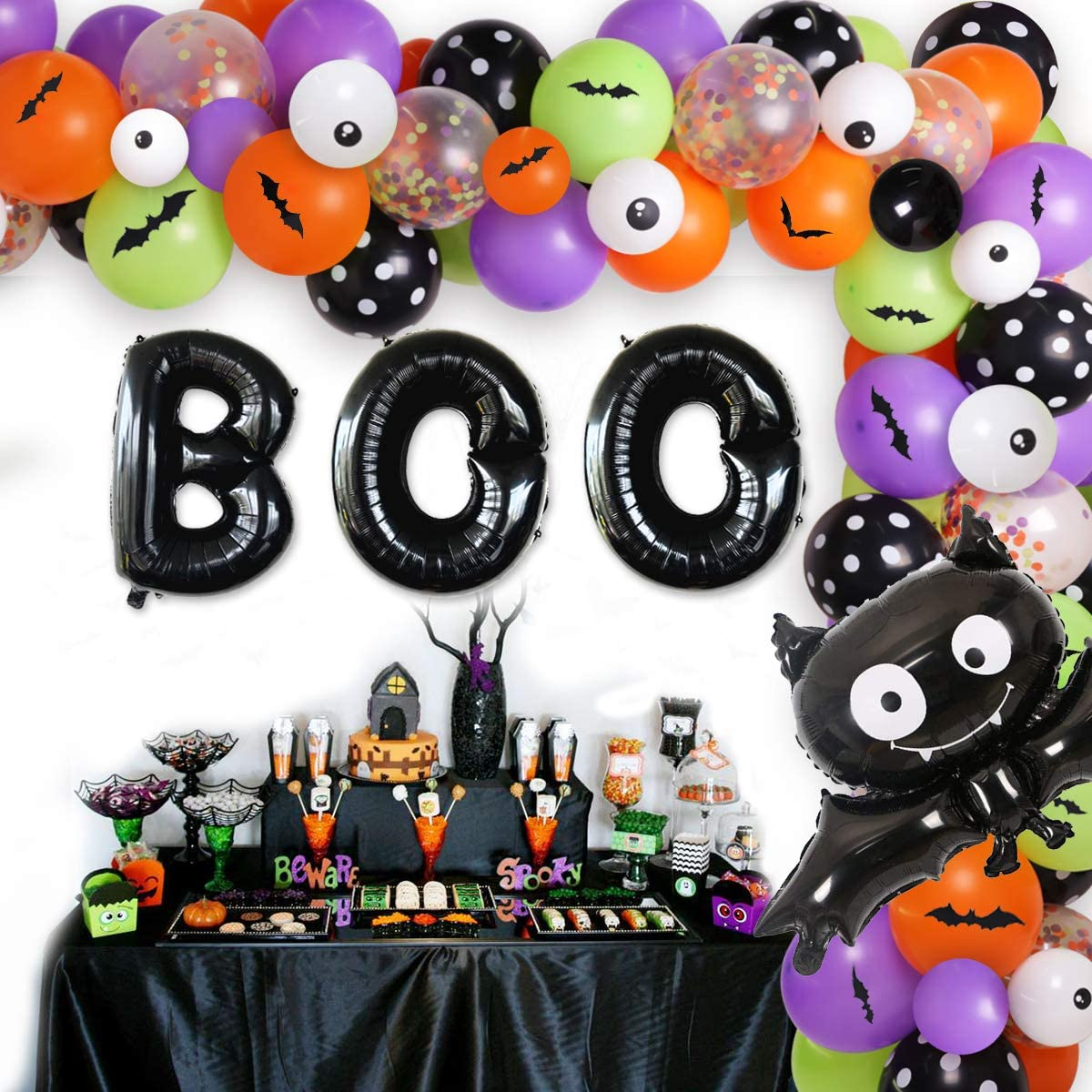 Halloween House Party Decorations Family Balloons Banners Stickers Props Horror