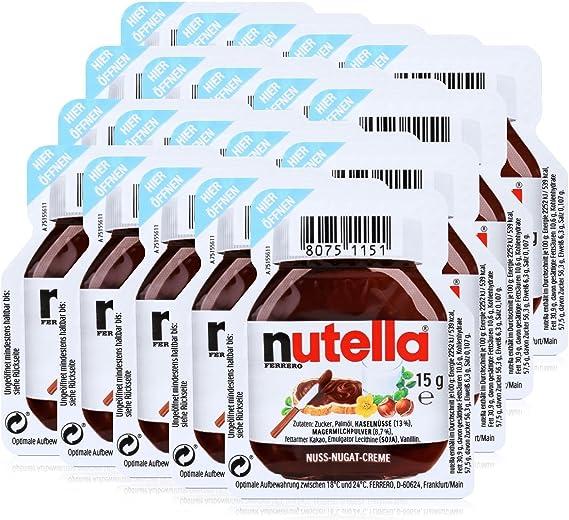 20 X 15g Nutella Spread Portions By Ferrero Amazon Co Uk Grocery