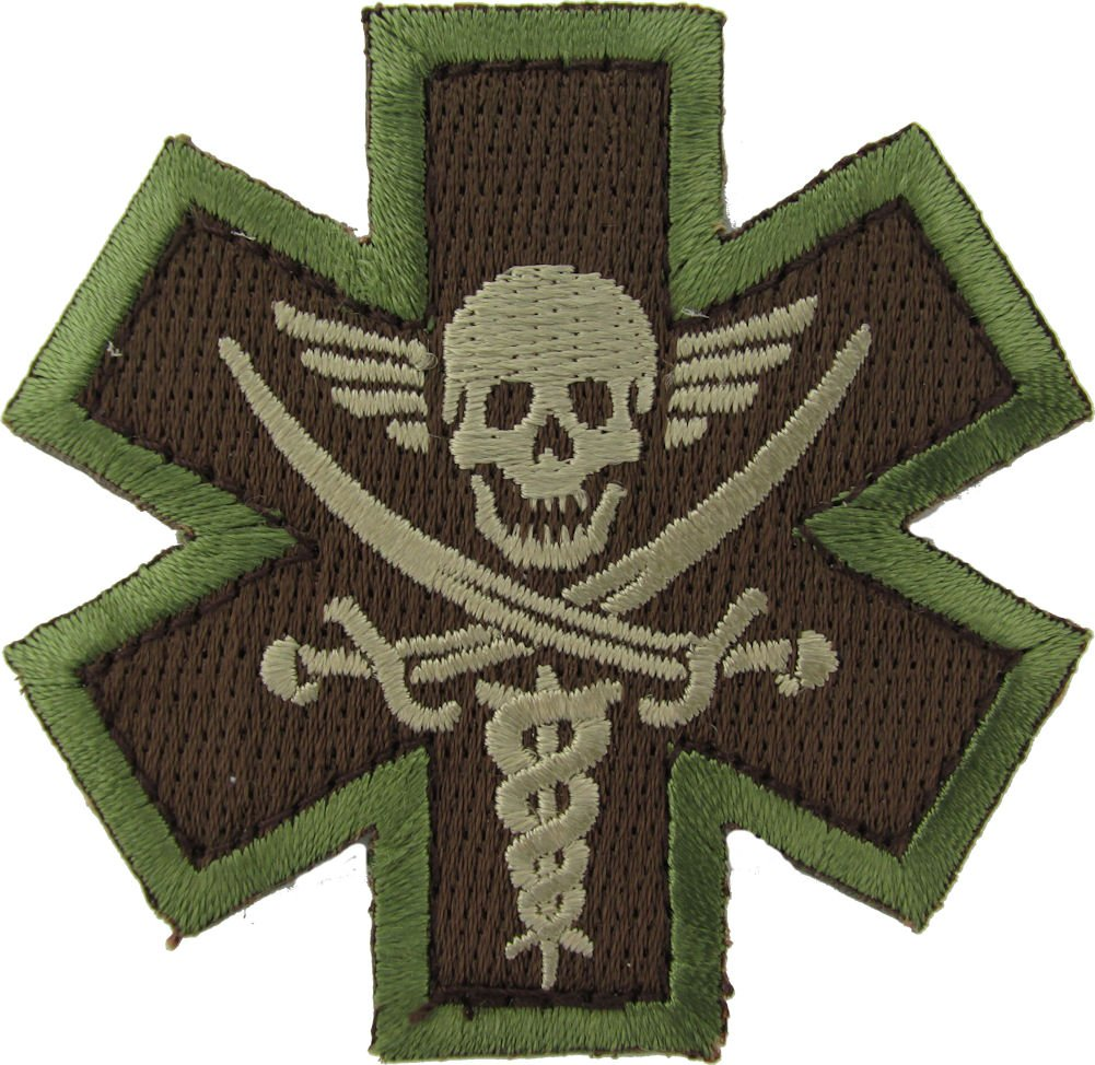 TACTICAL MEDIC PIRATE MULTICAM MIL SPEC PATCH Mil-Spec Monkey