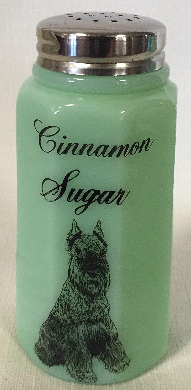 Cinnamon Sugar Shaker - Paneled - Mosser - American Made (Jade w/Black Cat) Mosser Glass 0931CS