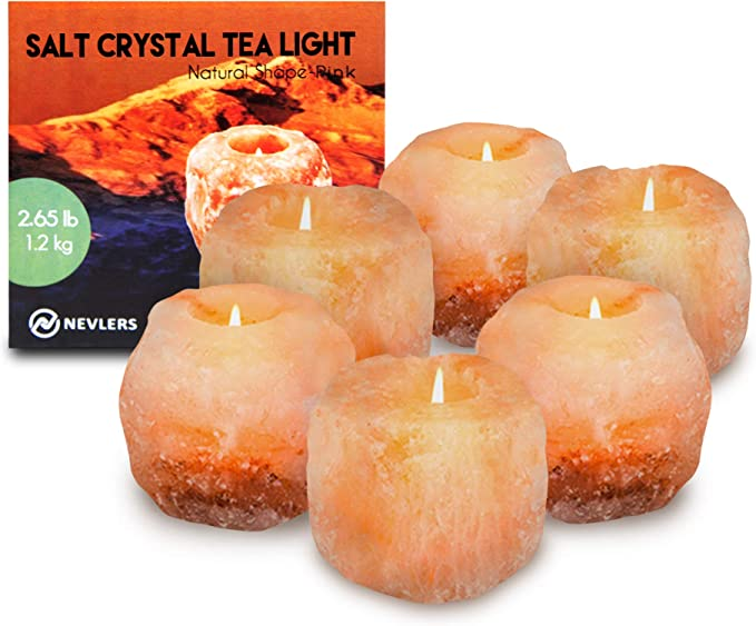 HSD Himalayan Salt Direct Handmade Heart Shape Real Salt Tealight Candle Holder