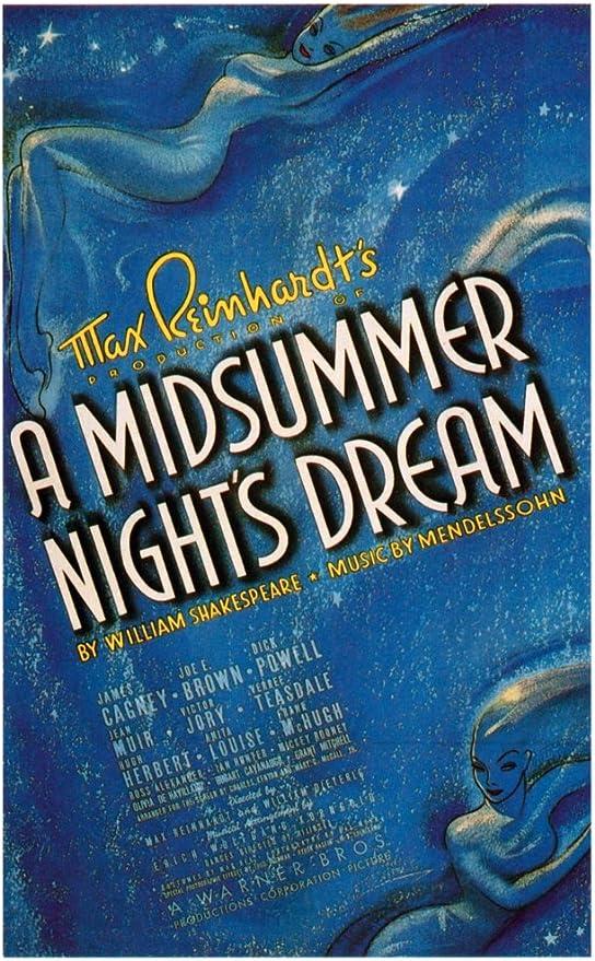 Amazon.com: Posterazzi A Midsummer Night'S Dream 1935. Movie Masterprint  Poster Print, (11 x 17): Posters & Prints
