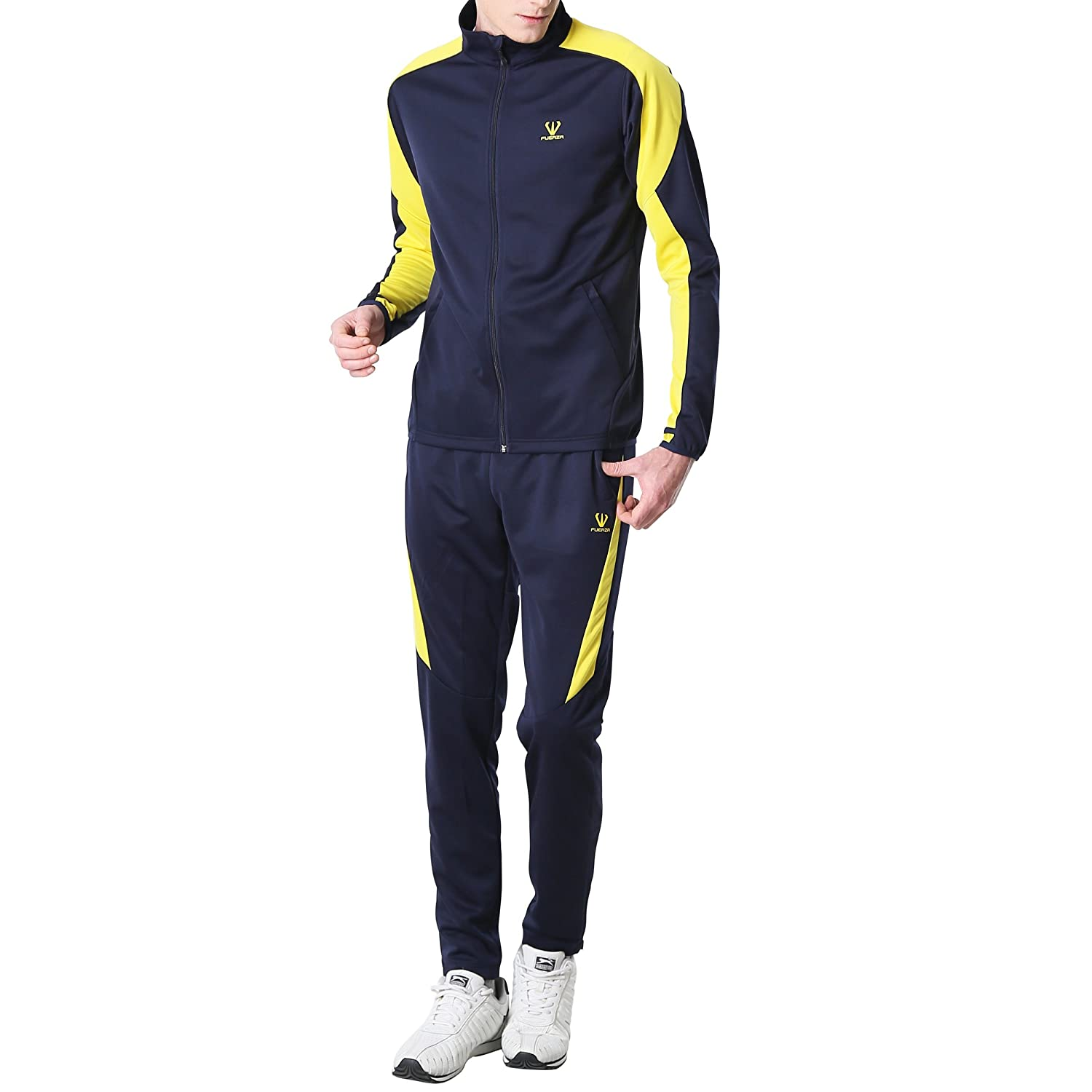 Fuerza Mens Training Warm Up Premium Material Knit Tracksuit Fuerza North America