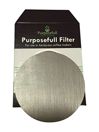 Purposefull UBER-FINE Stainless Steel Metal FABRIC Filter For Aeropress –  Allows Natural Oils – Removes Paper Taste – Paper Thickness x1 in pack