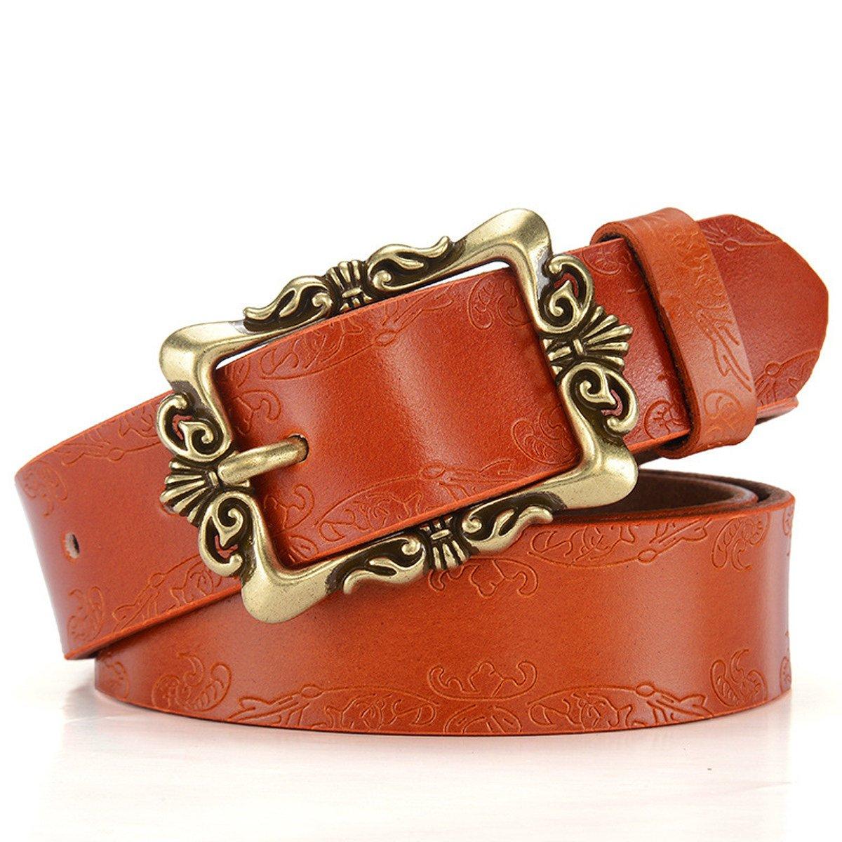 Retro Hebilla Mujer Amplia Cinturón Moda Decoración Jeans Cinturón: Amazon.es: Ropa y accesorios