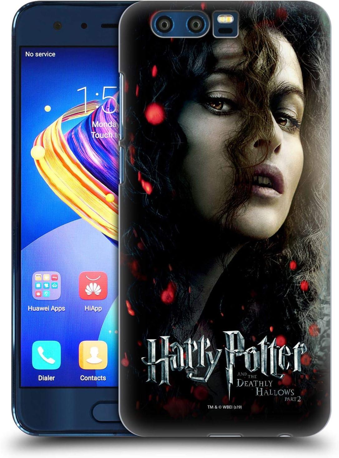 Oficial Harry Potter Bellatrix Lestrange Deathly Hallows VIII Carcasa rígida Compatible con Huawei Honor 9