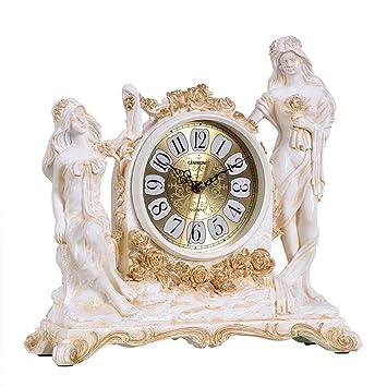 relojes antiguos de AmšŠrica/ reloj/Sala de ideas decoraciš®n de ornamentos/ reloj silenciosa europea clš¢sica/reloj de mesa/ Bell-B: Amazon.es: Hogar
