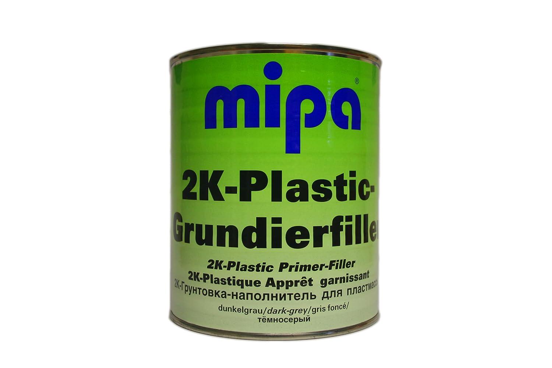 Mipa - 2K Plastic Grundierfiller (dunkelgrau, 1 Liter)