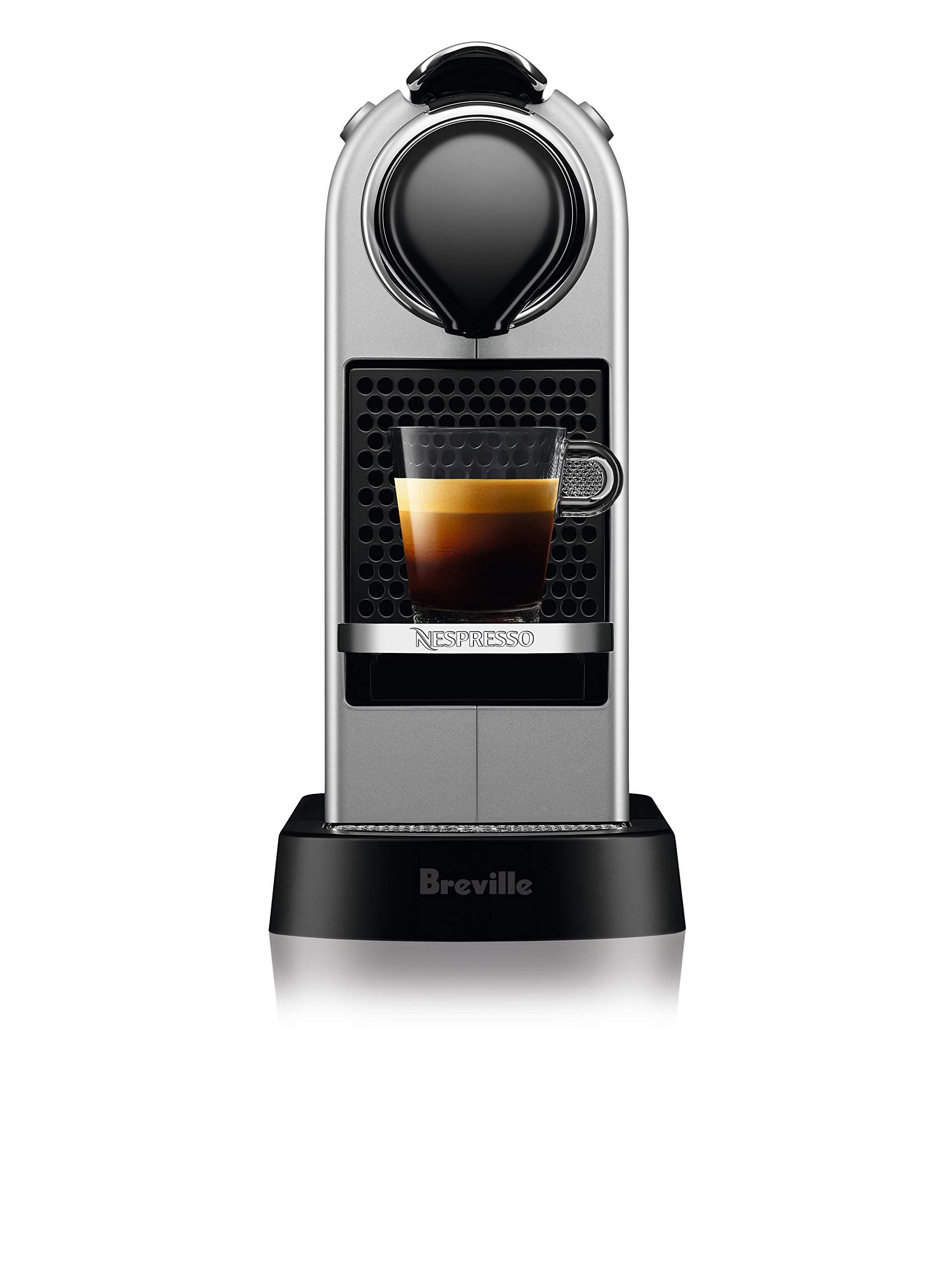 Breville-Nespresso USA BEC630SIL1BUC1 Nespresso CitiZ by Breville-Silver Single serve, capsule espresso maker, One Size by Breville-Nespresso USA