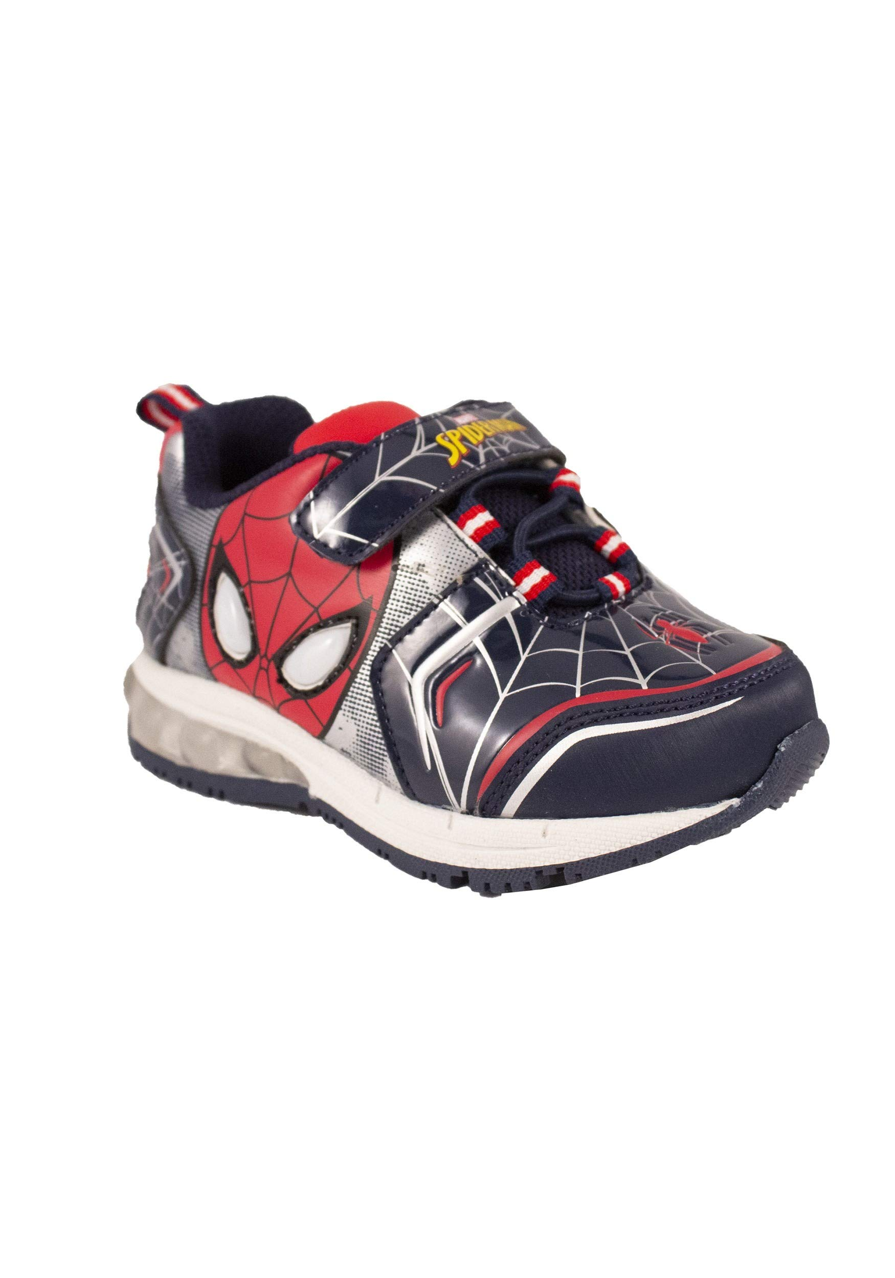 Favorite Characters Boys Marvel Spider-Man Lighted Sneaker (Toddler/Little Kid), Size 8 Red