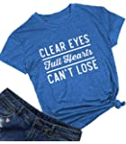 Womens Clear Eyes Full Hearts Can't Lose Summer T Shirt Tops Graphic Tees