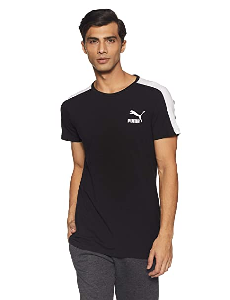 94a9de129d9 Puma Men's Solid Slim Fit T-Shirt: Amazon.in: Clothing & Accessories