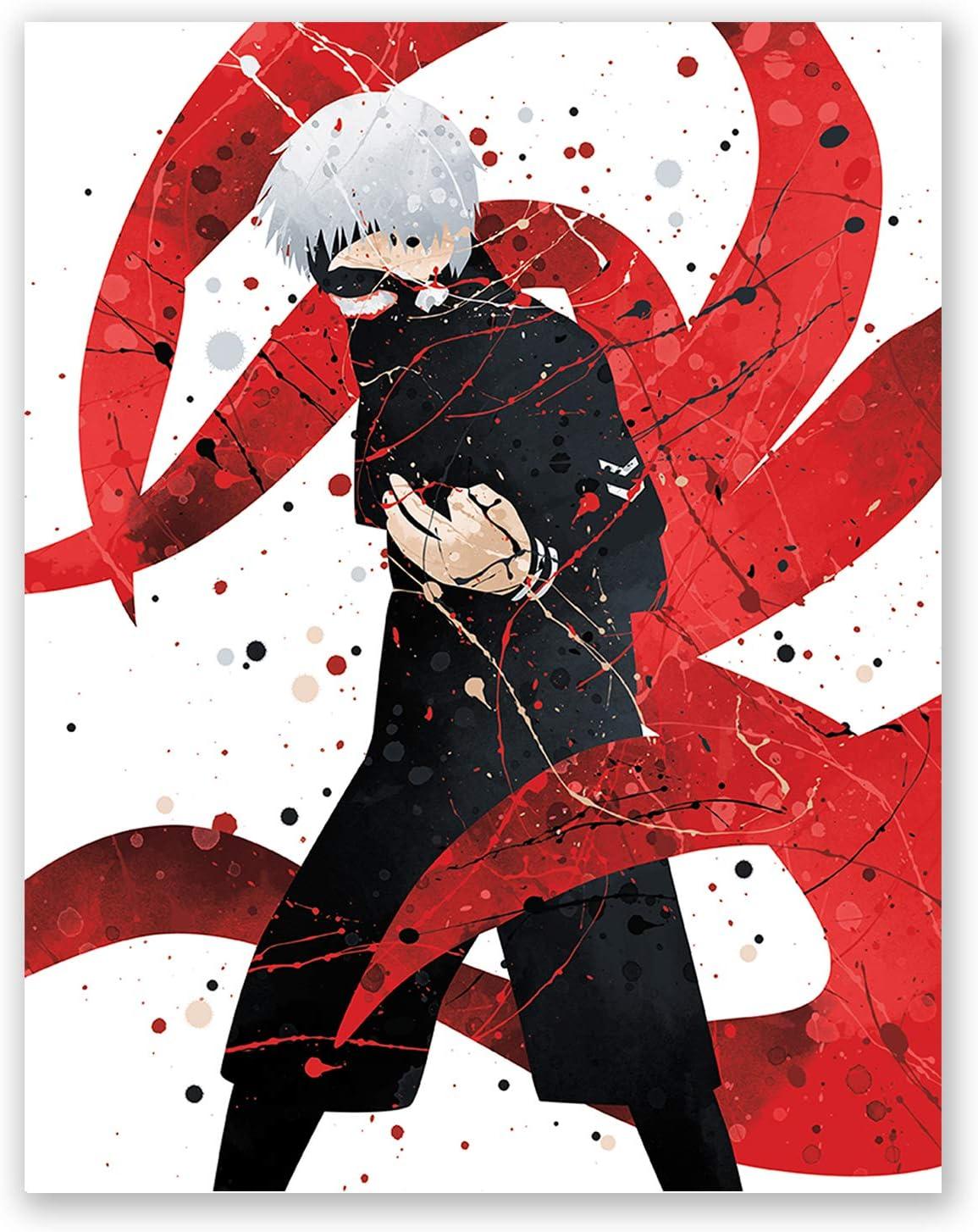 Poster Tokyo Ghoul Kaneki Ken Japan Anime Boy Room Wall Cloth Print 16