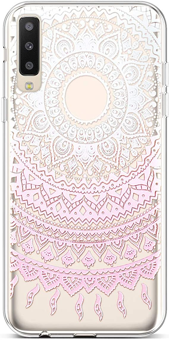 PHEZEN Galaxy A50 Case,Slim Shockproof Cute Amusing Whimsical Design Crystal Clear TPU Case Ultra Thin Soft Silicone Rubber Cover Bumper Phone Case for Samsung Galaxy A50,Black Cat