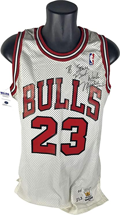 c8c78649ca93c5 Image Unavailable. Image not available for. Color  Michael Jordan  Autographed Signed Game Used Worn 1988 Jersey ...