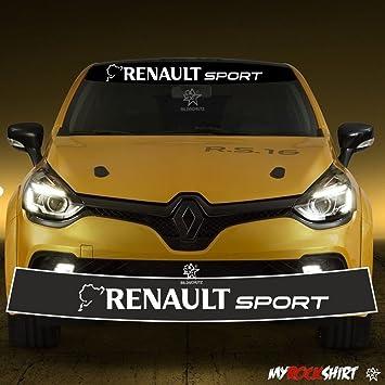 +Blendstreifen 130cm,Keil,Sonnenschutz Rennstreifen myrockshirt Motorsport Aufkleber Renault Sport RS R.S