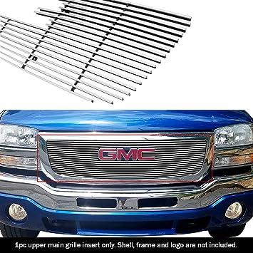 Fits 2003-2006 GMC Sierra 1500//2500HD//3500 Billet Grille Insert
