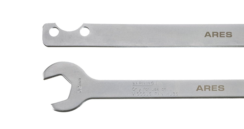 ARES 2pc Ventilador Ventilador de llave de embrague Set 70074 | 32 mm embrague tuerca llave | Bomba de agua Kit de herramienta de eliminación de soporte: ...