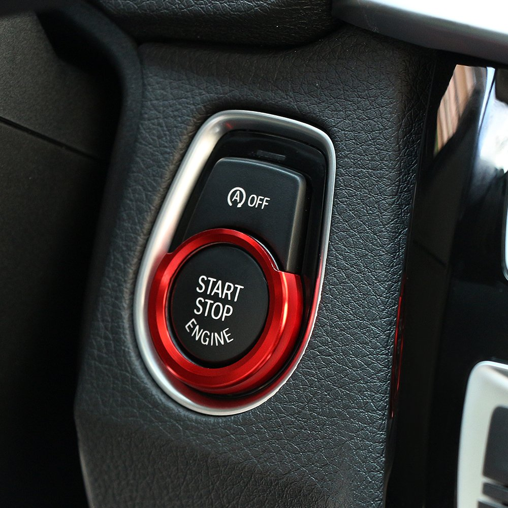 Car Engine Start Stop Switch Button Decoration Stickers Red etopmia