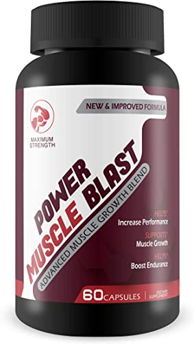 Power Muscle Blast- Max Strength- Advanced Muscle Growth Blend- Helps Increase Performance- Supports Muscle Growth- Helps Boost Endurance