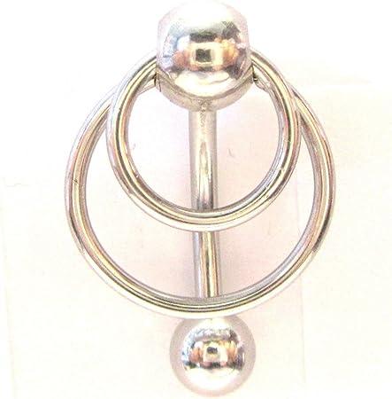 Surgical Steel Hoop Dangle VCH Clitoral Hood Intimate Jewelry 14 gauge 14g