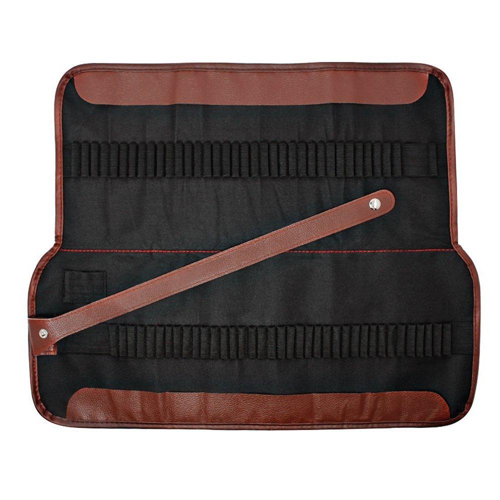 Lapiz Bolsa - SODIAL(R) Estuche para lapices, organizador para 72 lapices, enrollable de lona lavable lapiz bolsa de Oficina Escuela de Arte etc.
