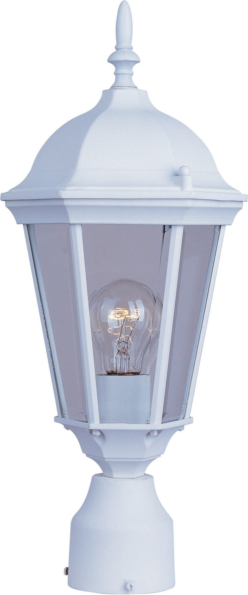 Maxim Lighting 1001 Westlake Outdoor Pole/Post Mount Lantern, White Finish, 8 by 19-Inch by Maxim Lighting