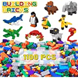 Lucky Doug 1100 Pieces Building Bricks Set for Kids, Classic Kids Building Block Toys with 10 Animal Block Kit…