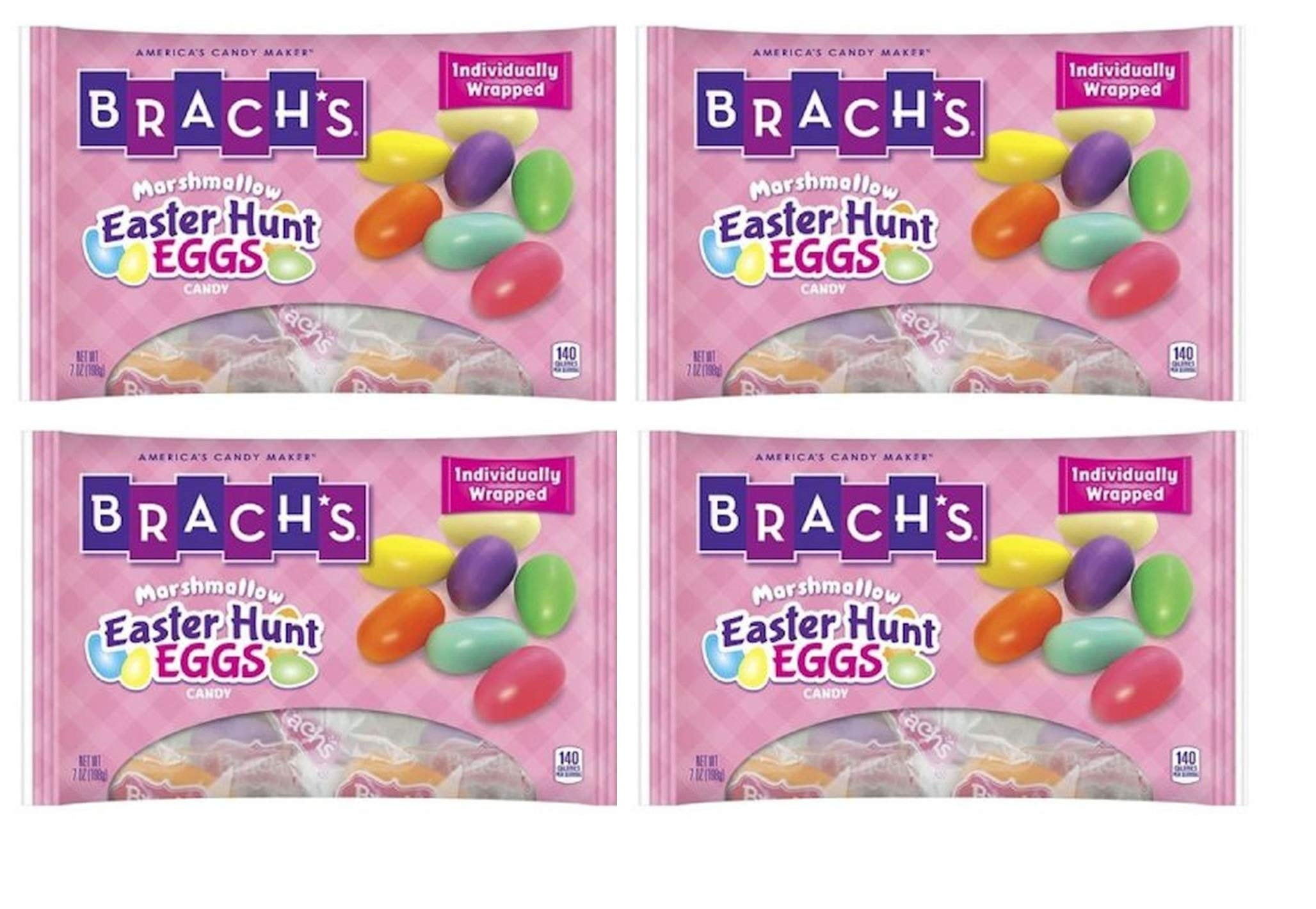 Brachs Easter Hunt Eggs Marshmallow Candy 7 oz (4 Pack)