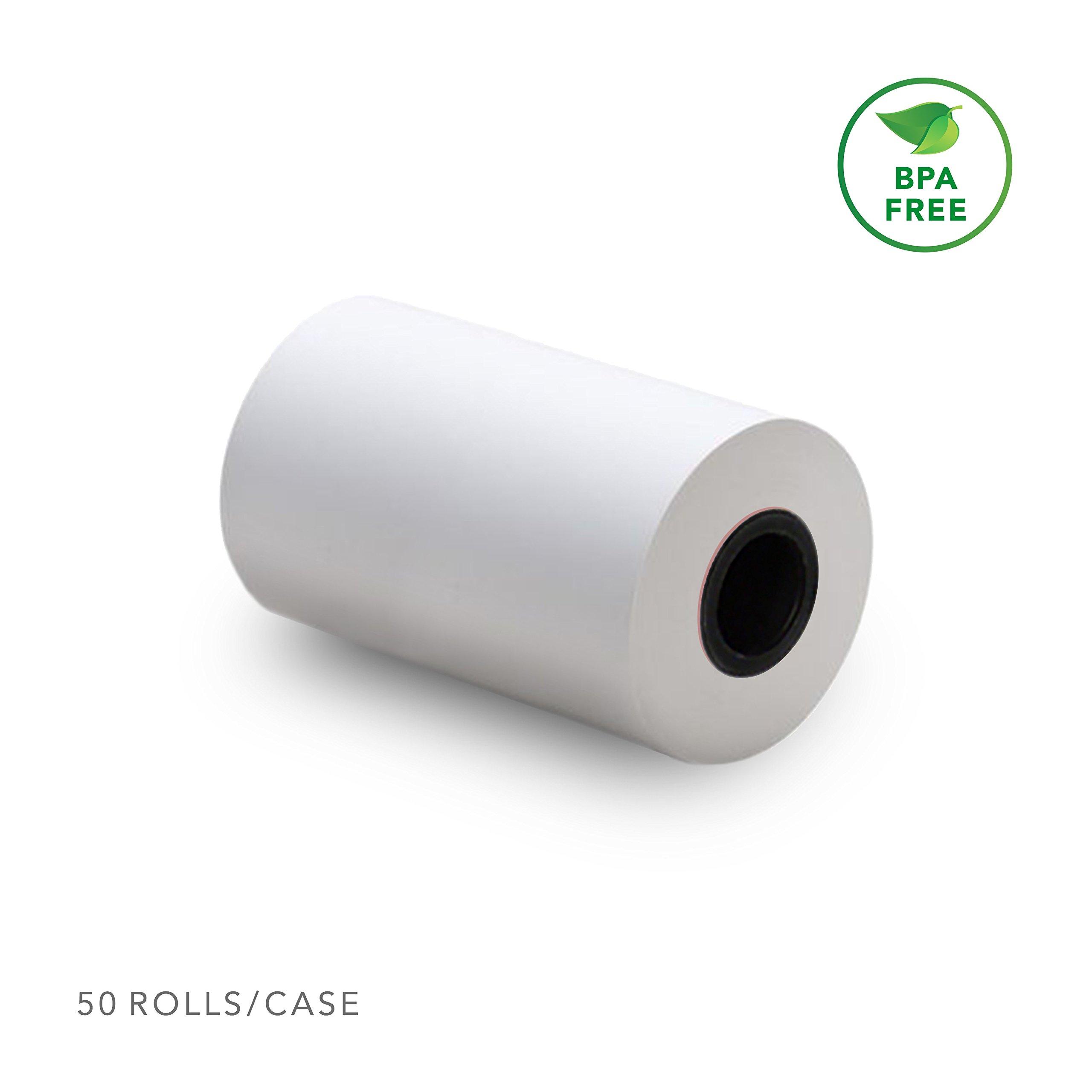 2 1/4'' X 50' (50 Rolls) BPA Free Thermal Receipt Paper Roll for Verifone VX520 VX670 VX680 VX690, Clover Flex, Ingenico iCT220 iCT250 by EXQUIS Supply & Co.