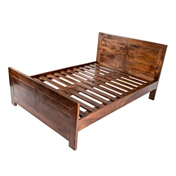best loved 70124 fd2ed Homescapes - Dakota - King Size Bed Frame - Dark - 100% Solid Mango Hard  Wood - (No Veneer) Hand Crafted Furniture