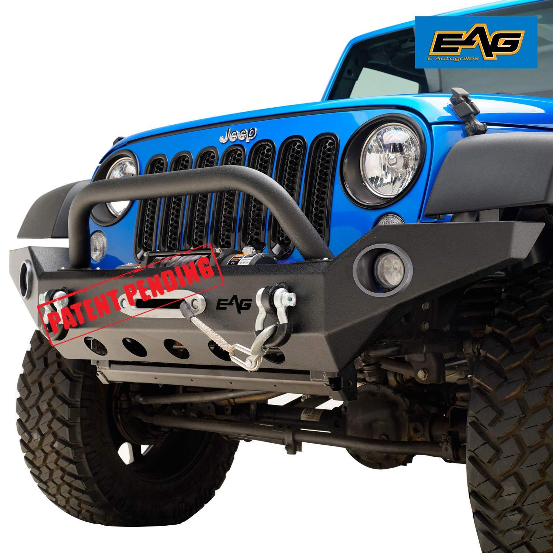 Jeep Wrangler Jk Front Bumper >> Amazon Com Eag 07 18 Jeep Wrangler Jk Front Bumper With Led Lights