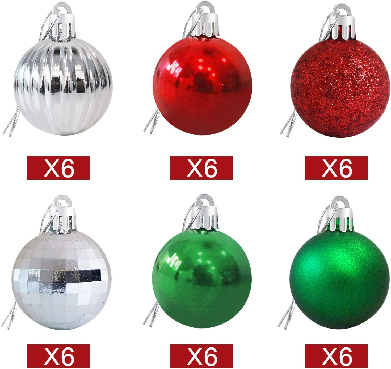 New Glass Christmas Tree Ball Ornament Red Green Chevron Funky