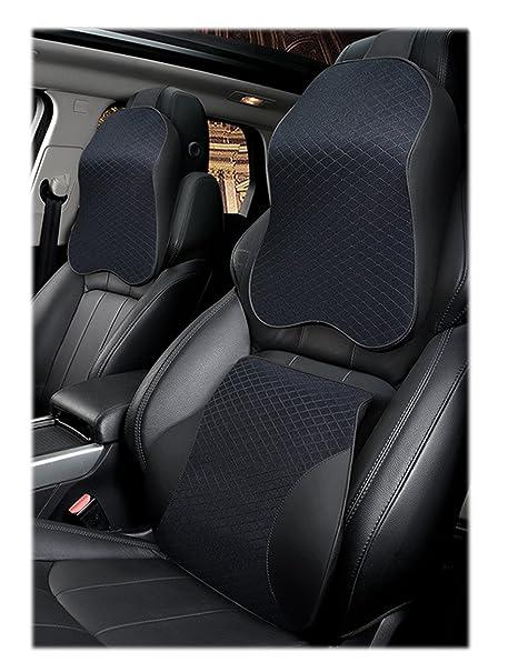 Amazon.com: Car Seat Lumbar Cushion and Neck Headrest Pillow ...