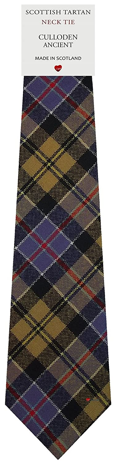 Mens Tie All Wool Made in Scotland Culloden Ancient Tartan