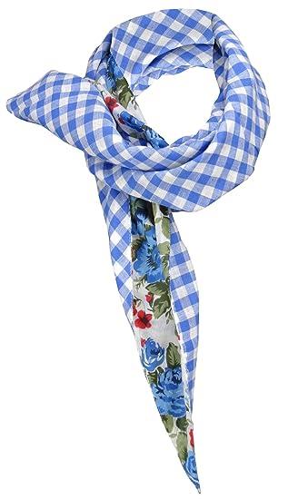 87f92fa34610 TigerTie dames foulard Triangle tissu dans bleu gris rouge vert marine à  dessins - taille 150