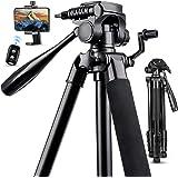 "67"" Camera Tripod Stand, Torjim (13 lbs/6kg Loads) Aluminum Travel Tripod with Carry Bag for Canon, DSRL, SRL, Phone Tripod M"